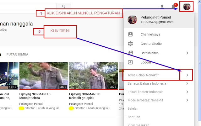 CARA UBAH THEMA YOUTUBE