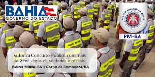 O governador da Bahia, Rui Costa autoriza concurso público com 2 mil vagas para Polícia Militar da Bahia e do Corpo Bombeiros Militar-BA