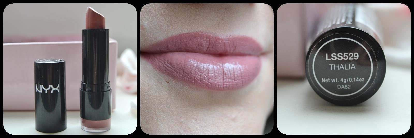 NYX Cosmetics Lipstick Lippenstift Round Lipstick Swatch Thalia