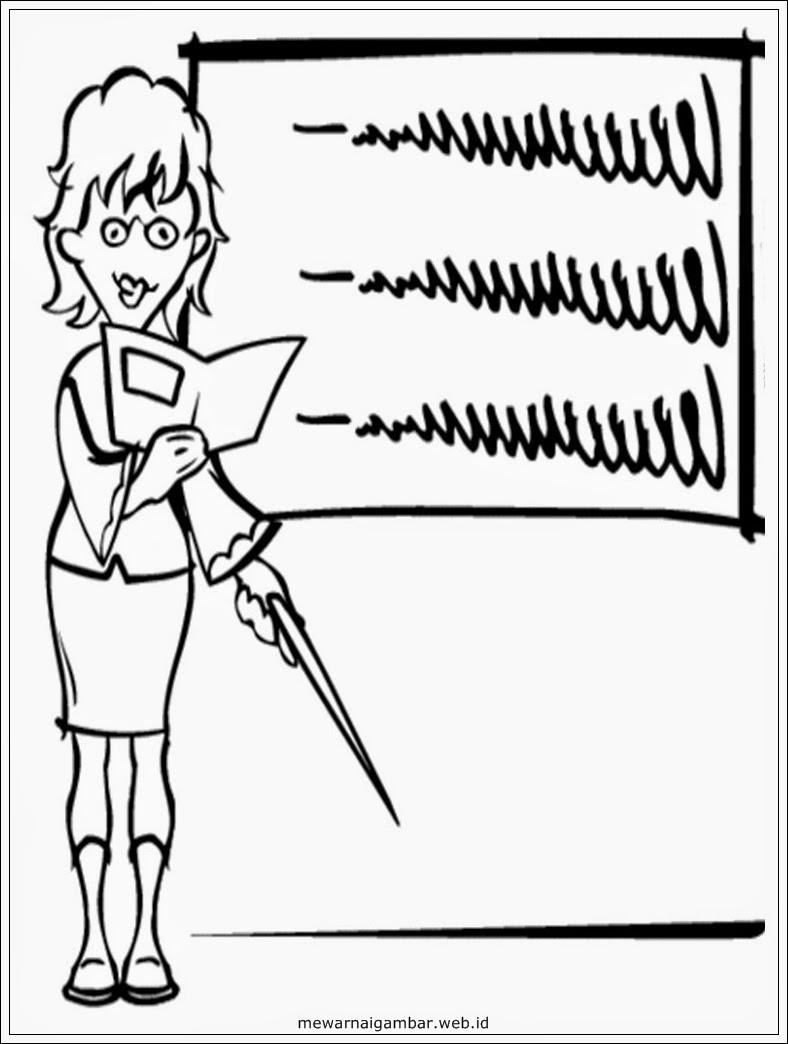 Gambar Guru Mengajar : gambar, mengajar, Gambar, Animasi, Sedang, Mengajar, Kelas, Cikimm.com