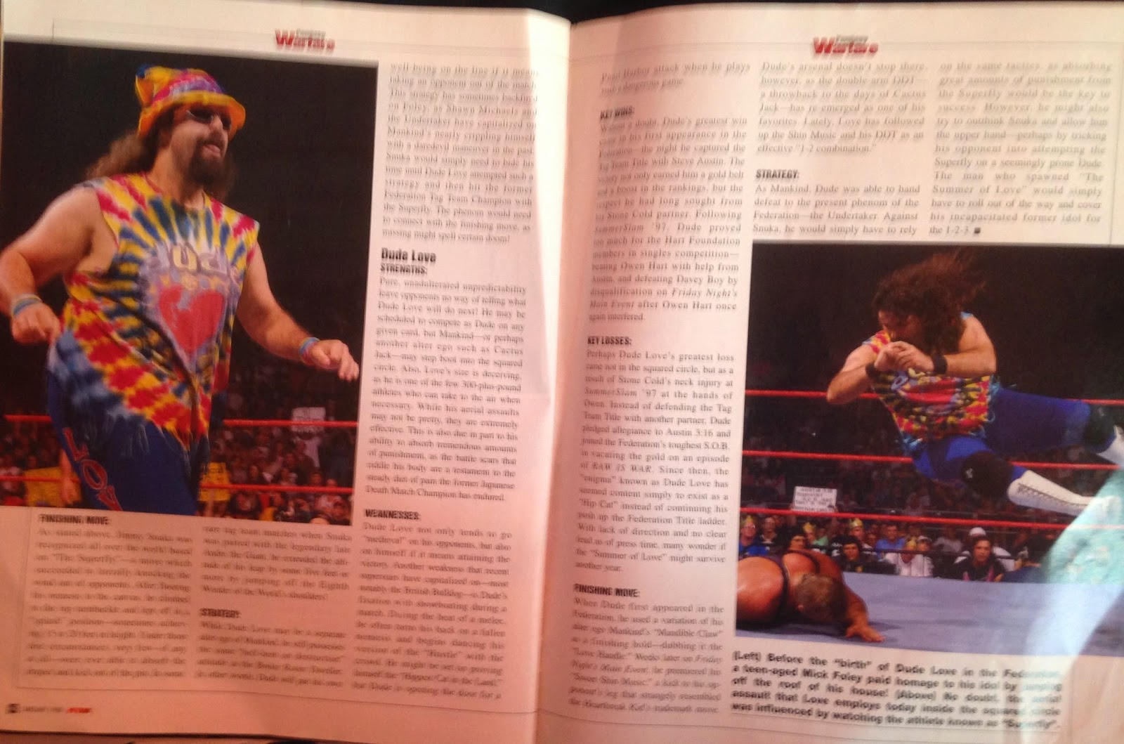 WWE: WWF RAW MAGAZINE - January 1998 - More Dude Love vs. Jimmy Snuka fantasy warfare