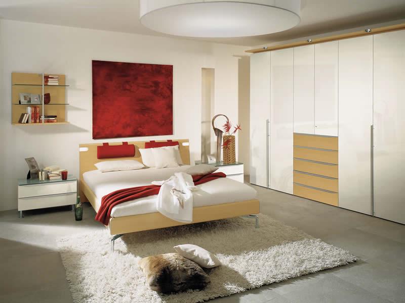 Habitaciones en rojo y blanco dormitorios colores y estilos for Cuarto color gris