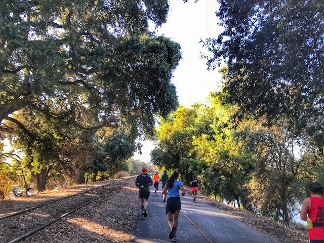 Urban Cow Half Marathon on the bike trail