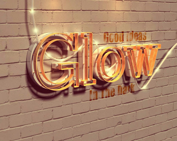 Create a Glowing 3D Text Effect