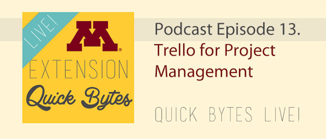 banner graphic, totes optional: Podcast episode 13. Trello for Project Management