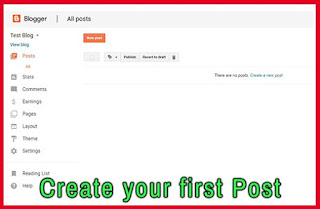 Write your first post blogger