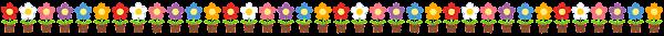 鉢植えの花のライン素材