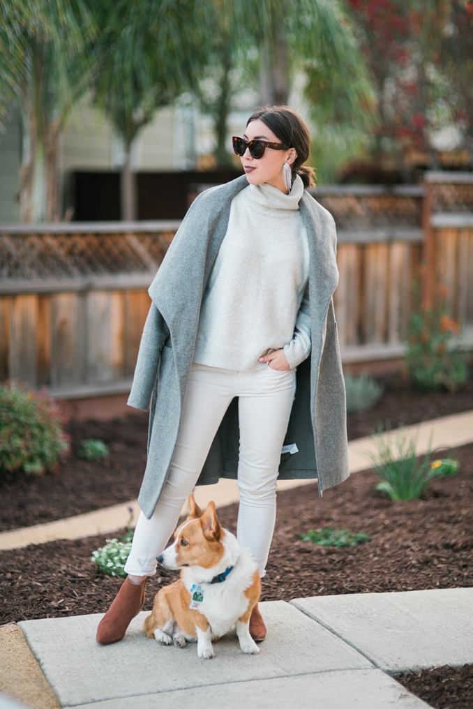 layered gray knits