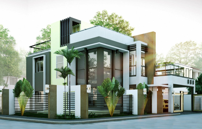 50 images of 15 two storey modern houses with floor plans Modern house plans free