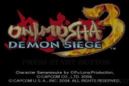 Onimusha 3 Demon Siege PS2 ISO