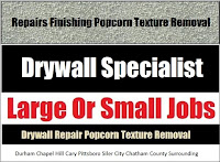 Affordable Prices And Free Estimates For Drywall Repair, Finishing And Popcorn Texture Removal In NC.