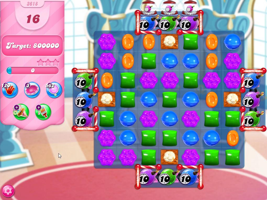 Candy Crush Saga level 3618