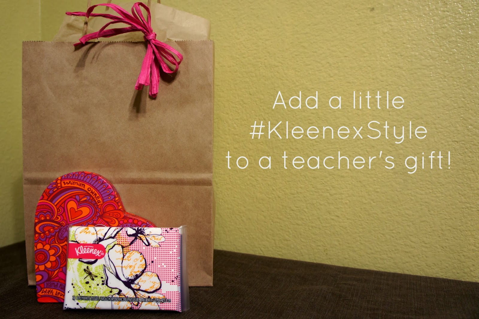 Valentine's Teacher Gift Idea with #KleenexStyle