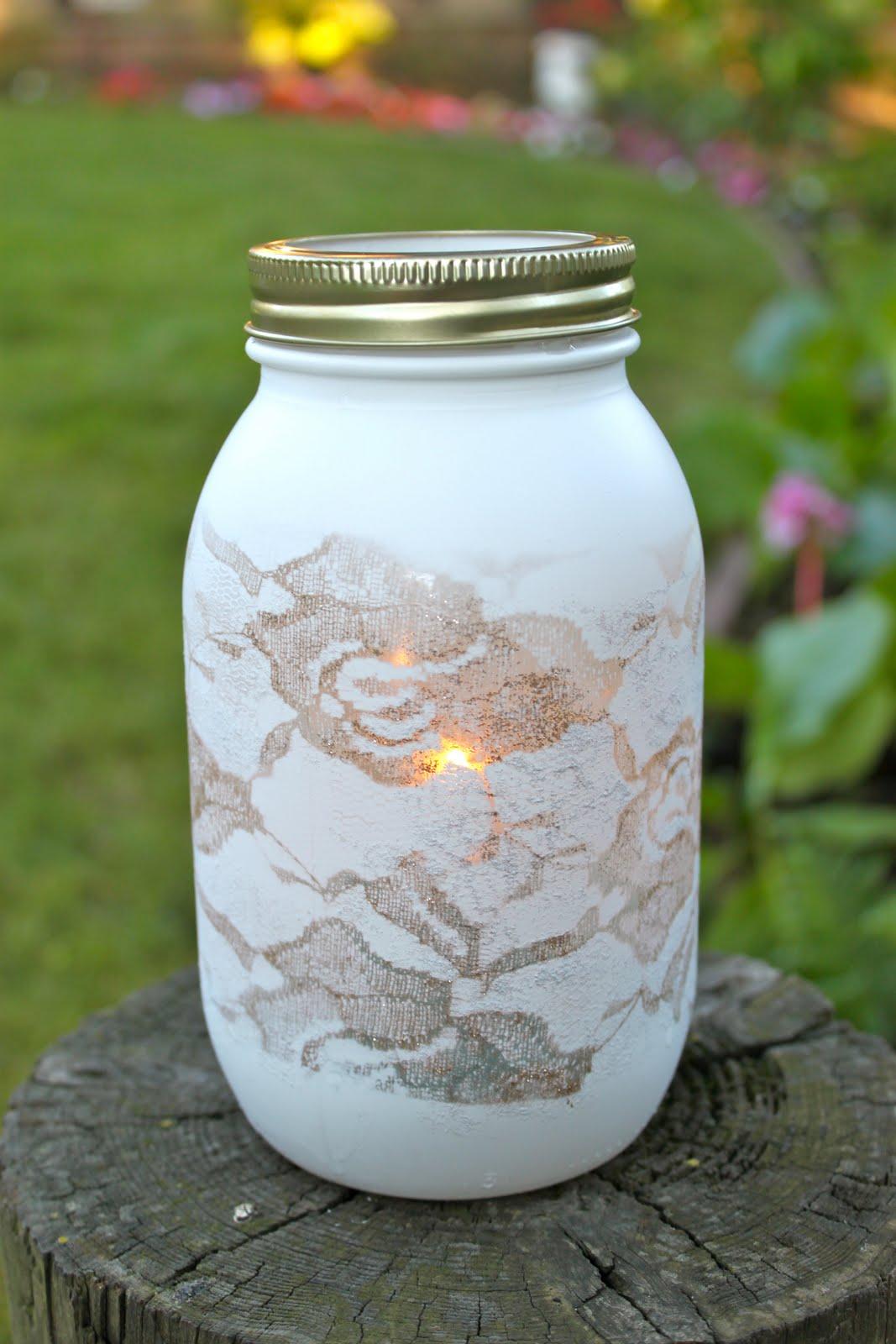 DIY mason jar crafts guest tutorial  Love Stitched