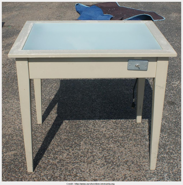 Top Photo of Drafting Table With Light Collection