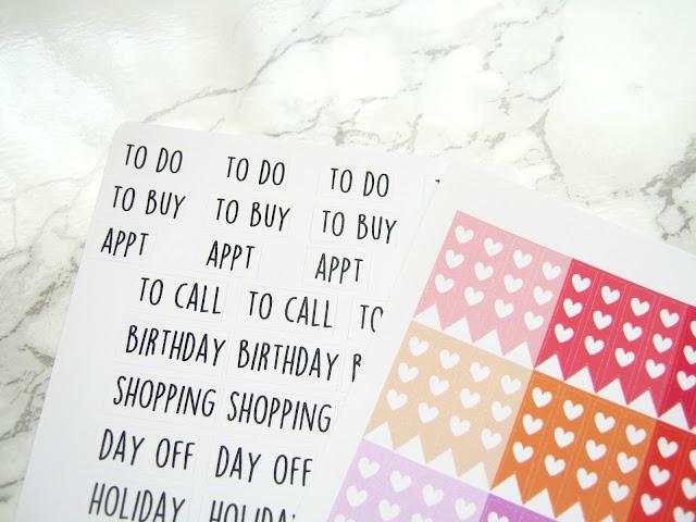 Planner stickers lethbridge cards