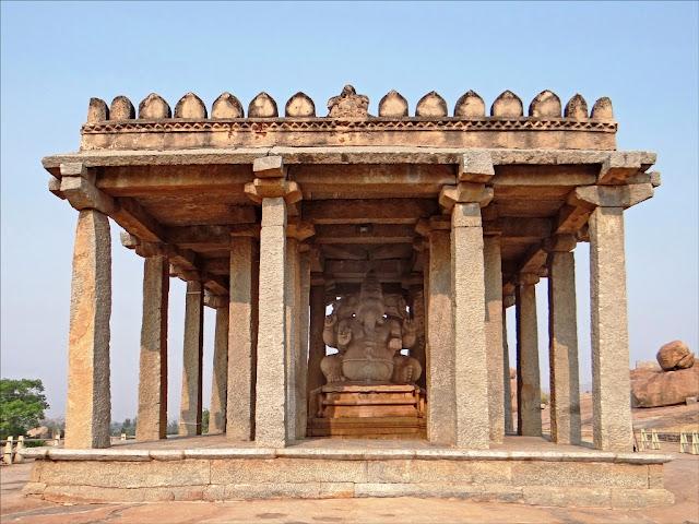 Sasive Kallu Ganesha Ancient Indian temple architecture -Hampi Pick, Pack, Go