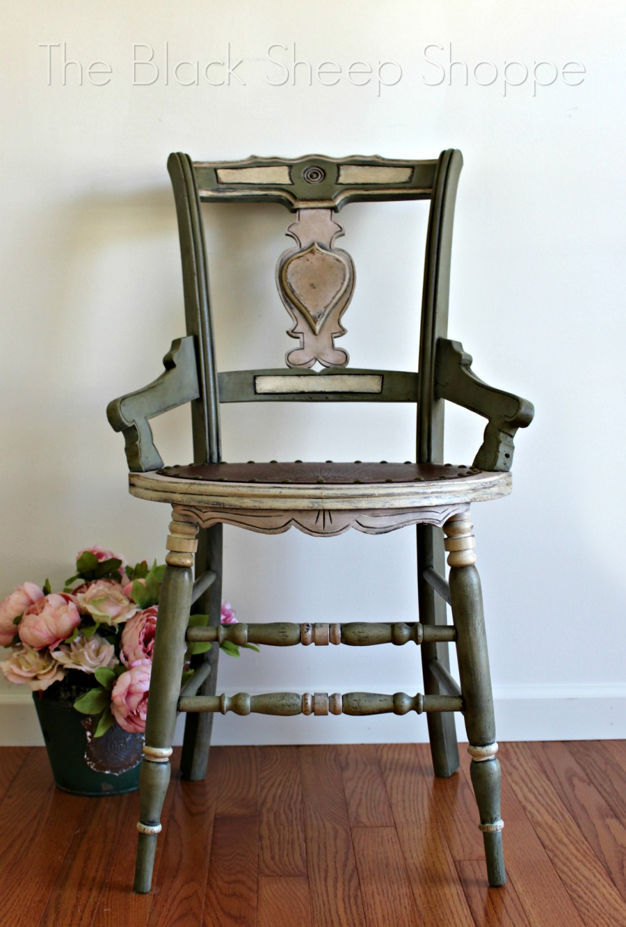 Antique chair painted with Chalk Paint.