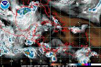 Satélite imagen de vapor de agua