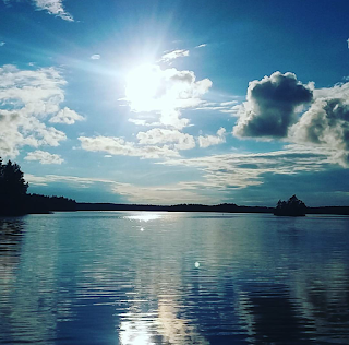 sun and lake