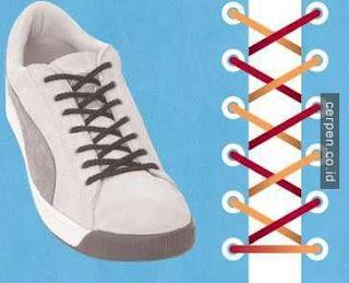 Cara Mengikat Tali Sepatu Sederhana