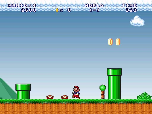 play mario forever game online full screen
