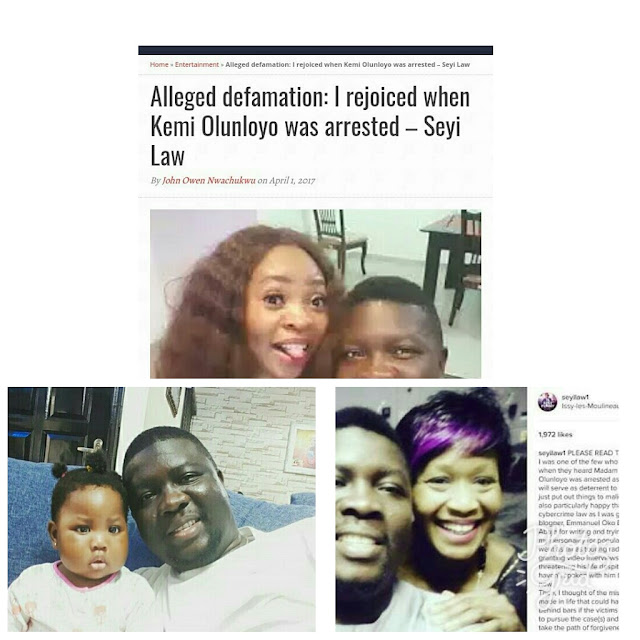 Kemi Olunloyo reacts to the report that Comedian Sheyilaw rejoiced over arrest