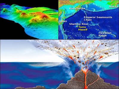 tamu massive, gunung berapi terbesar di dunia