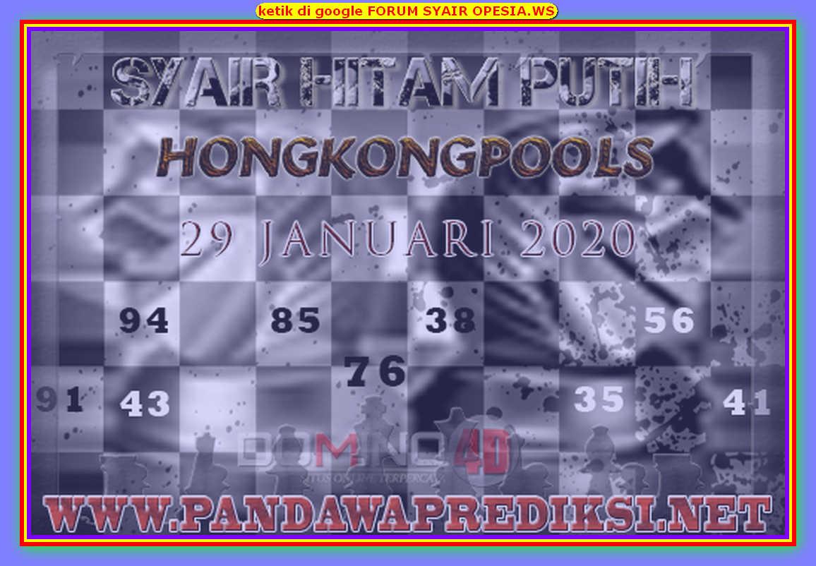 Kode syair Hongkong Rabu 29 Januari 2020 180