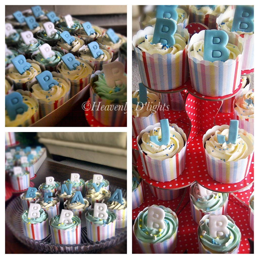 Heavenly D Lights 1 Month Baby Celebration Cupcakes