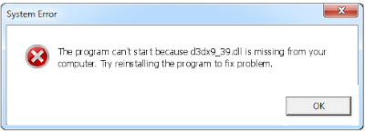 Télécharger D3dx9_39.dll Fichier Gratuit Installer
