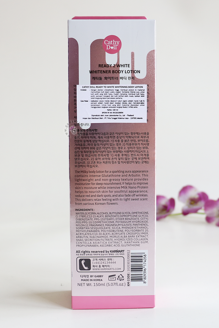 Cathy Doll Whitener Body Lotion Review