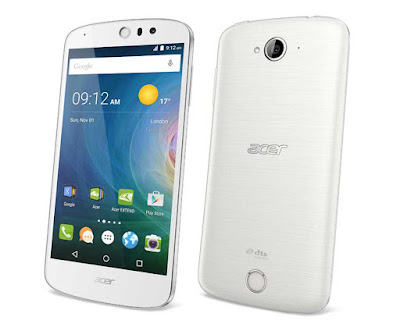 Acer Liquid Z530S Specifications - LAUNCH Announced 2015, September DISPLAY Type IPS LCD capacitive touchscreen, 16M colors Size 5.0 inches (~68.1% screen-to-body ratio) Resolution 720 x 1280 pixels (~294 ppi pixel density) Multitouch Yes BODY Dimensions 144 x 70.3 x 8.9 mm (5.67 x 2.77 x 0.35 in) Weight 145 g (5.11 oz) SIM Single SIM (Micro-SIM) or Dual SIM (Micro-SIM, dual stand-by) PLATFORM OS Android OS, v5.1 (Lollipop) CPU Octa-core 1.3 GHz Cortex-A53 Chipset Mediatek MT6753 GPU Mali-T720MP3 MEMORY Card slot microSD (dedicated slot) Internal 32 GB, 3 GB RAM CAMERA Primary 8 MP, autofocus, LED flash Secondary 8 MP Features Geo-tagging, touch focus, face detection, HDR, panorama Video Yes NETWORK Technology GSM / HSPA / LTE 2G bands GSM 850 / 900 / 1800 / 1900 - SIM 1 & SIM 2 (dual-SIM model only) 3G bands HSDPA 4G bands LTE Speed HSPA, LTE GPRS Yes EDGE Yes COMMS WLAN Yes NFC No GPS Yes, with A-GPS USB microUSB v2.0 Radio FM radio Bluetooth v4.0, A2DP FEATURES Sensors Accelerometer, proximity Messaging SMS(threaded view), MMS, Email, Push Mail, IM Browser HTML5 Java No SOUND Alert types Vibration; MP3, WAV ringtones Loudspeaker Yes 3.5mm jack Yes BATTERY  Removable Li-Ion 2420 mAh battery Stand-by  Talk time  Music play  MISC Colors Black, White  - MP3/WAV/AAC/Flac player - MP4/H.264 player - Photo/video editor - Document viewer