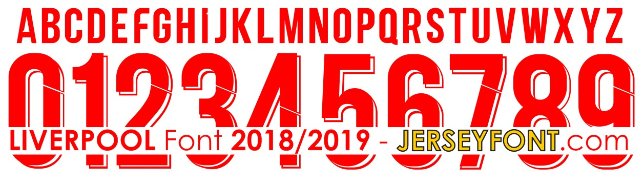 Liverpool UCL 2018/2019 Font