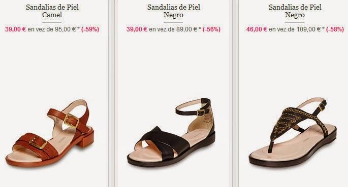 Sandalias de piel para mujer, muy cómodas.