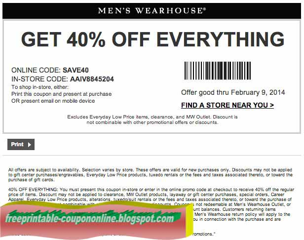 These Men's Wearhouse coupon codes don't make the man, but they come close! Get some dashing new duds shipped to you for free orders of $99 or more. Shop men's suits, shoes, ties, and more by brands such as Calvin Klein, Kenneth Cole, and Lucky Brand for5/5(11).