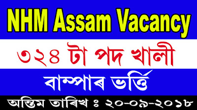 NHM Assam Recruitment 2018, Latest jobs in Assam, NHM Jobs, NHM Vacancy
