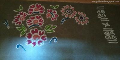 Rangolis of Flowers