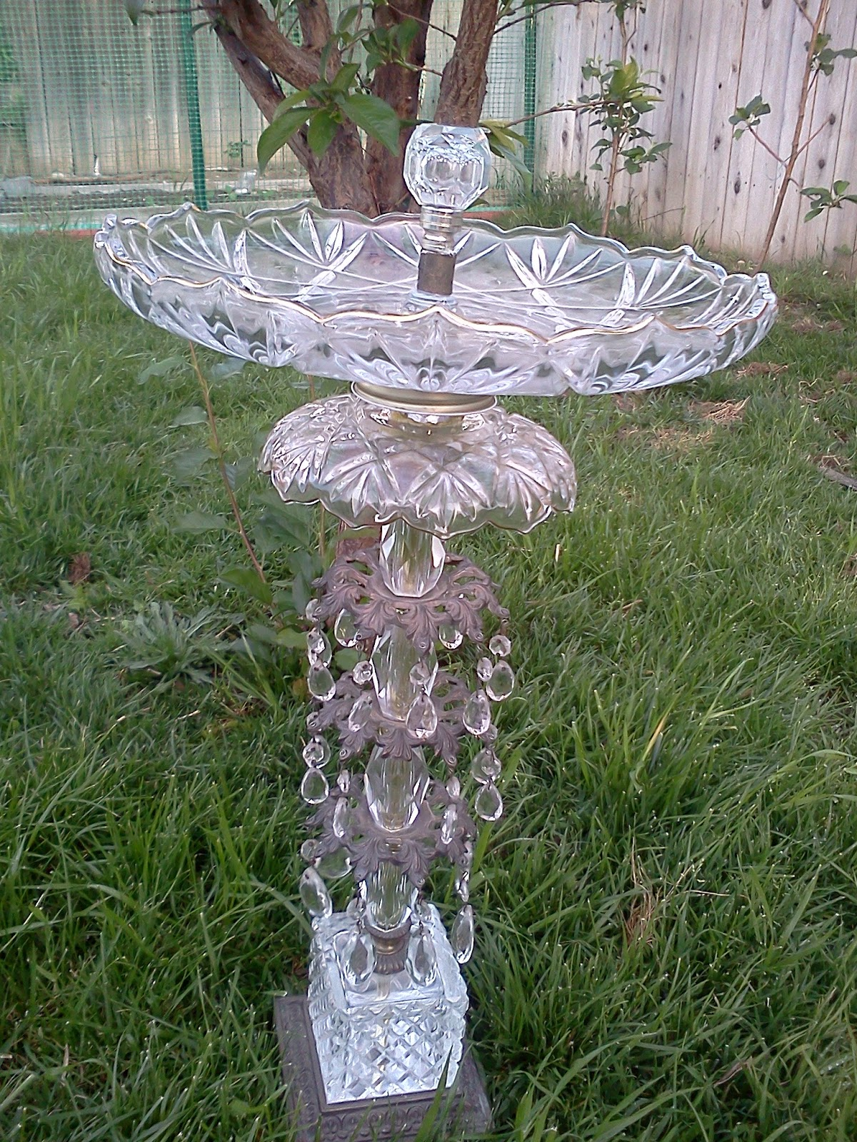 Oc Garden Jen Old Lamp Tiered Server New Bird Bath