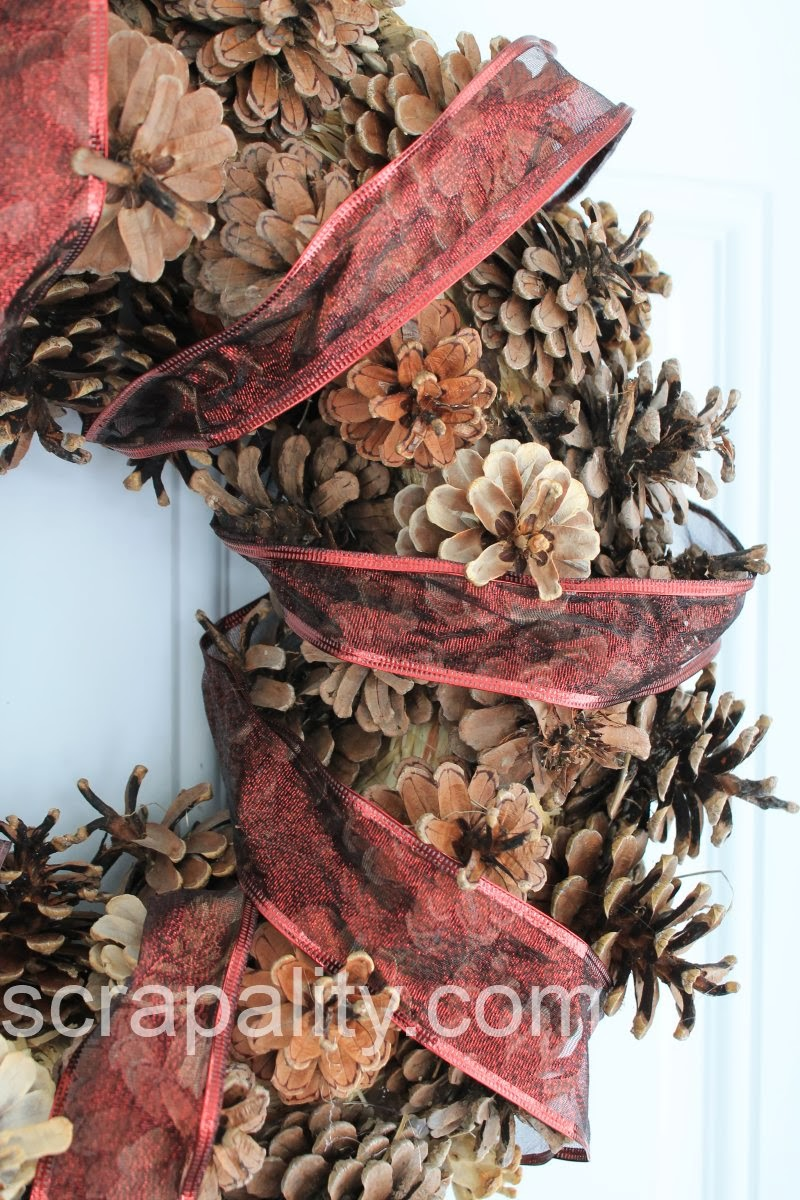 How To Pine Cone Wreath Scrapality