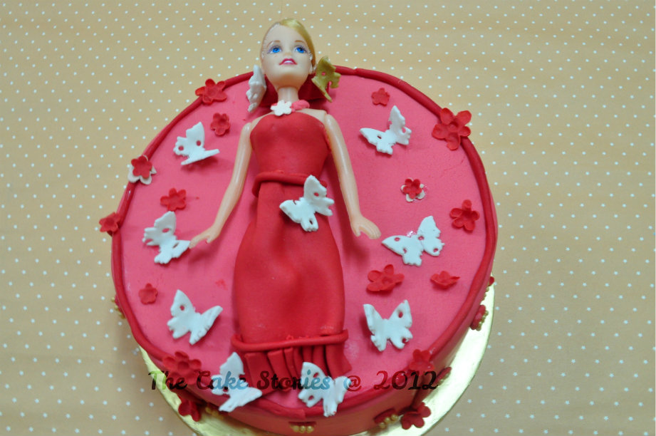 The Cake Stories Barbie Butterfly Pink
