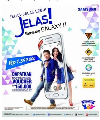 Spesifikasi dan Harga HP Samsung Galaxy J1 Juni 2016