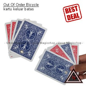 Jual alat sulap out of order bicycle card