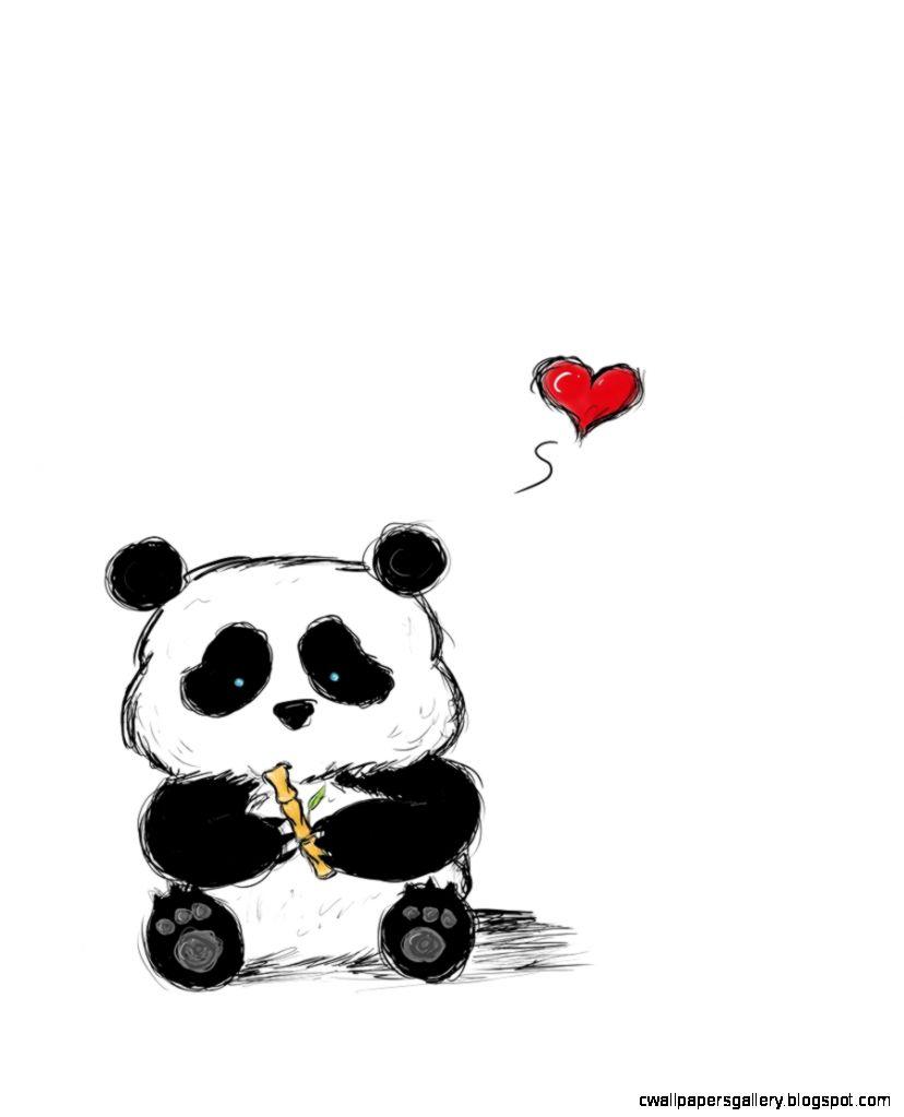 Cute Panda Drawings Tumblr   Wallpapers Gallery