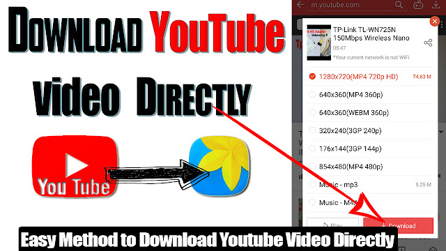 How to download youtube video save In tha gallery