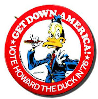 Howard the Duck campaign button