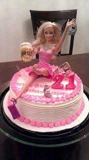 Fotos de humor - tortas de barbie peda