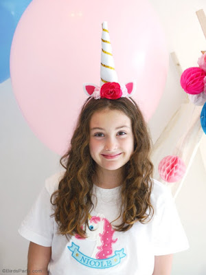 DIY Unicorn Party Headbands by Birds Party