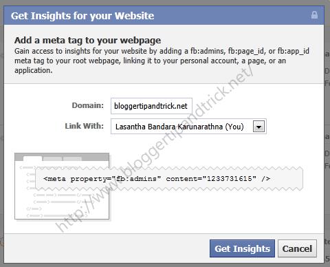 How To Get Facebook Insights For Blogger blogs/Websites
