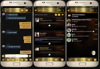 Download BBM Mod BLACK GOLD Series and Black gold simple APK V3.1.0.13